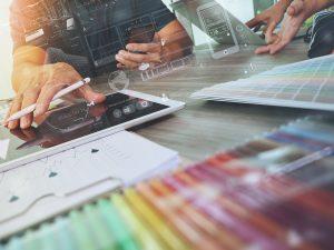 Graphic designing business talking