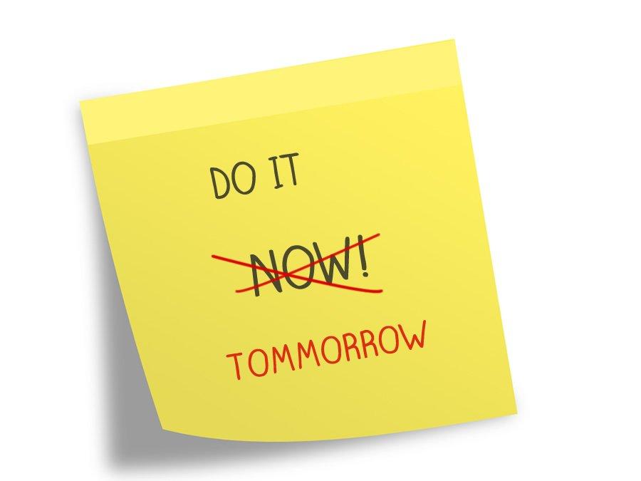 Decisions stop technology procrastination